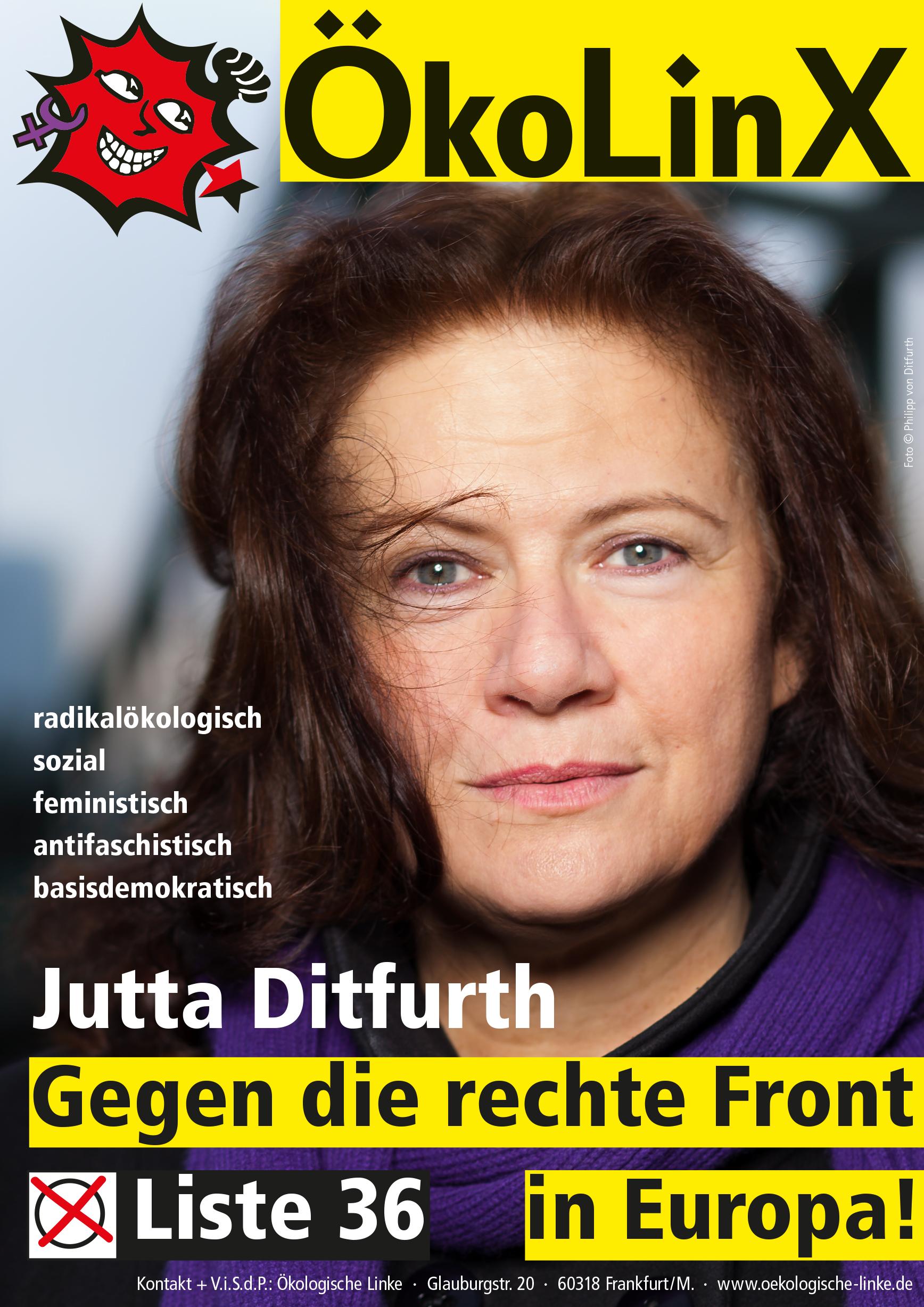 ÖkoLinX Plakat der Liste 36 zur Europawahl am 26. Mai 2019