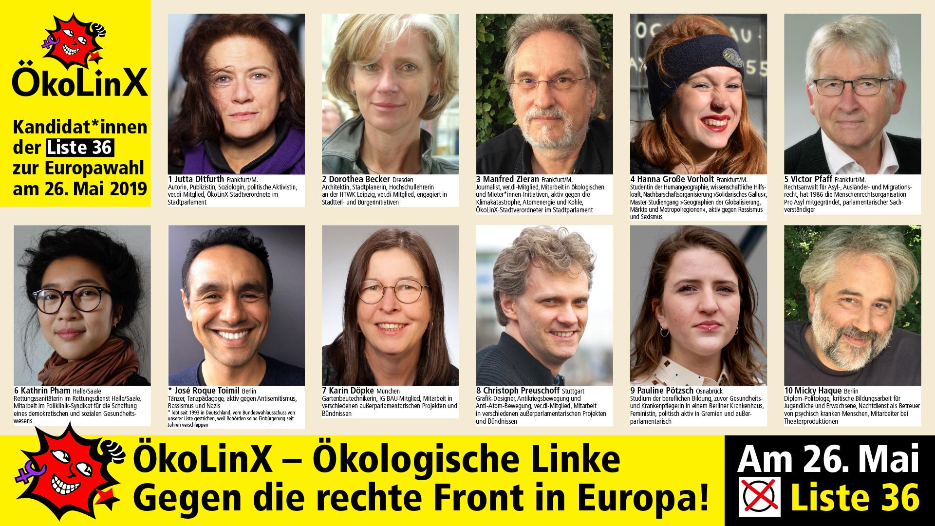Jutta Ditfurth: Wählt bei der Europawahl ÖkoLinX  Wahlspot (ARD und ZDF)